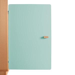 Schranktür 2/5 70cm-Griff DESTYLE de Breuyn MDF mint-lackiert