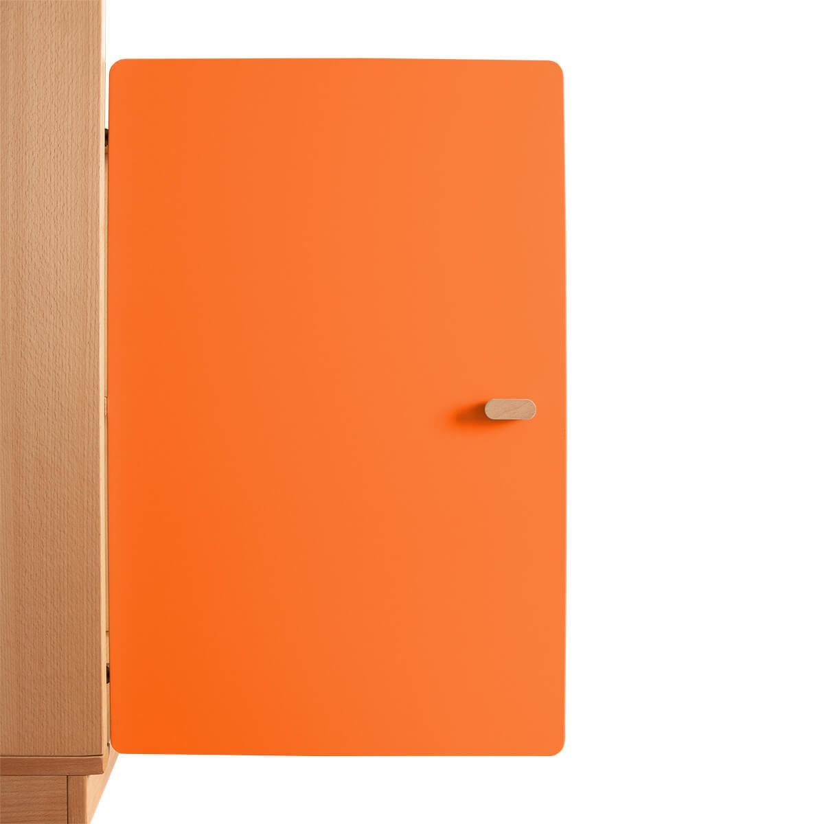 Schranktür 2/5 70cm-Griff DESTYLE de Breuyn MDF orange-lackiert