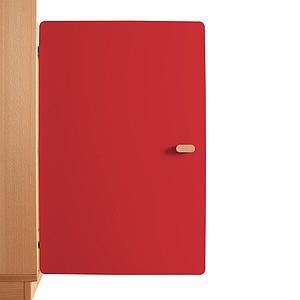 Schranktür 2/5 70cm-Griff DESTYLE de Breuyn MDF rot-lackiert