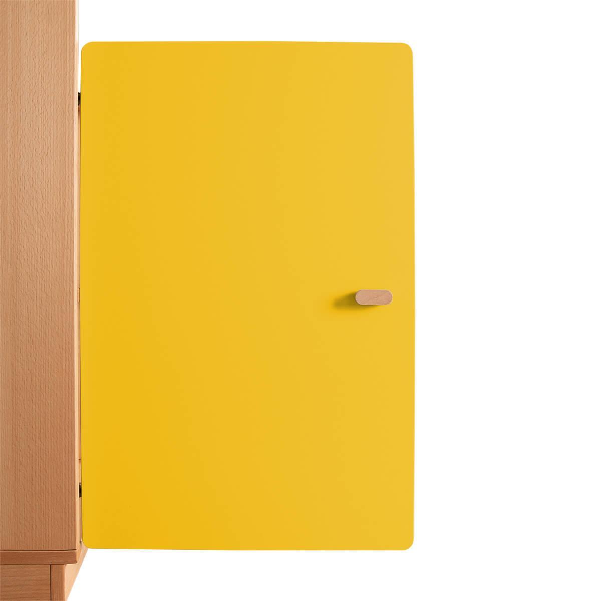 Schranktür 2/5 70cm-Griff DESTYLE Debreuyn  MDF gelb-lackiert
