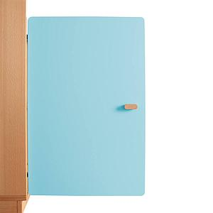 Schranktür 2/5 70cm-Griff DESTYLE Debreuyn  MDF kristallblau-lackiert