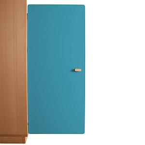 Schranktür 3/5 106cm-Griff DESTYLE de Breuyn MDF blau-lackiert