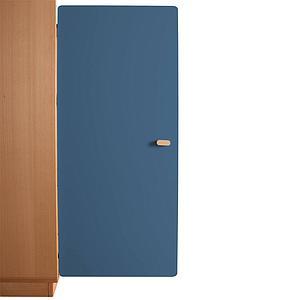 Schranktür 3/5 106cm-Griff DESTYLE de Breuyn MDF dunkelblau-lackiert