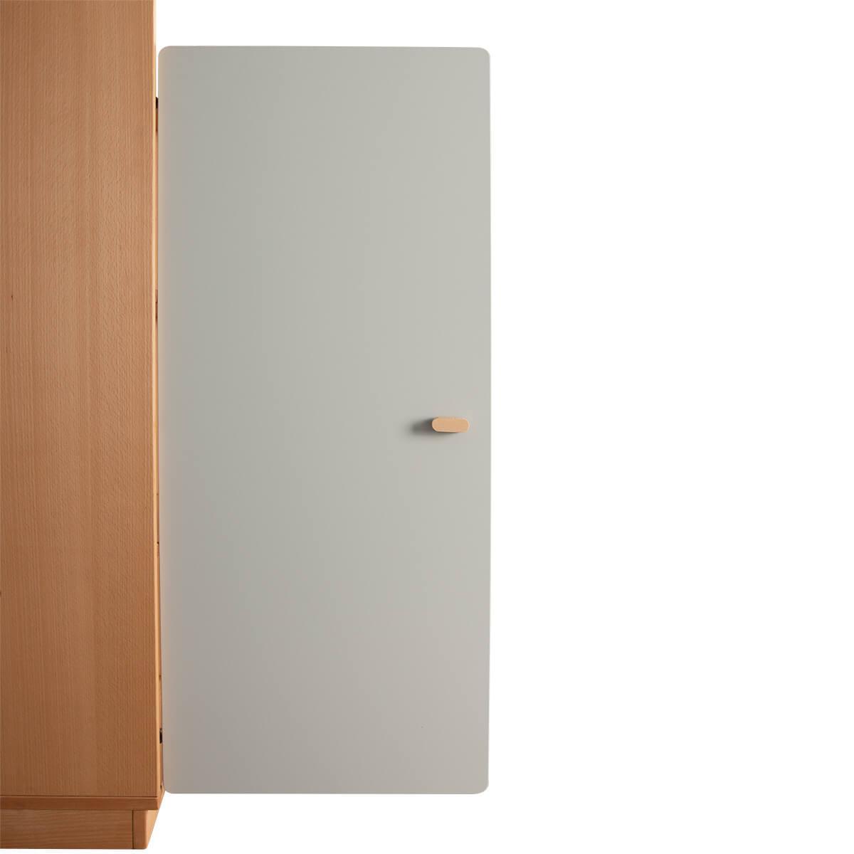 Schranktür 3/5 106cm-Griff DESTYLE de Breuyn MDF grau-lackiert