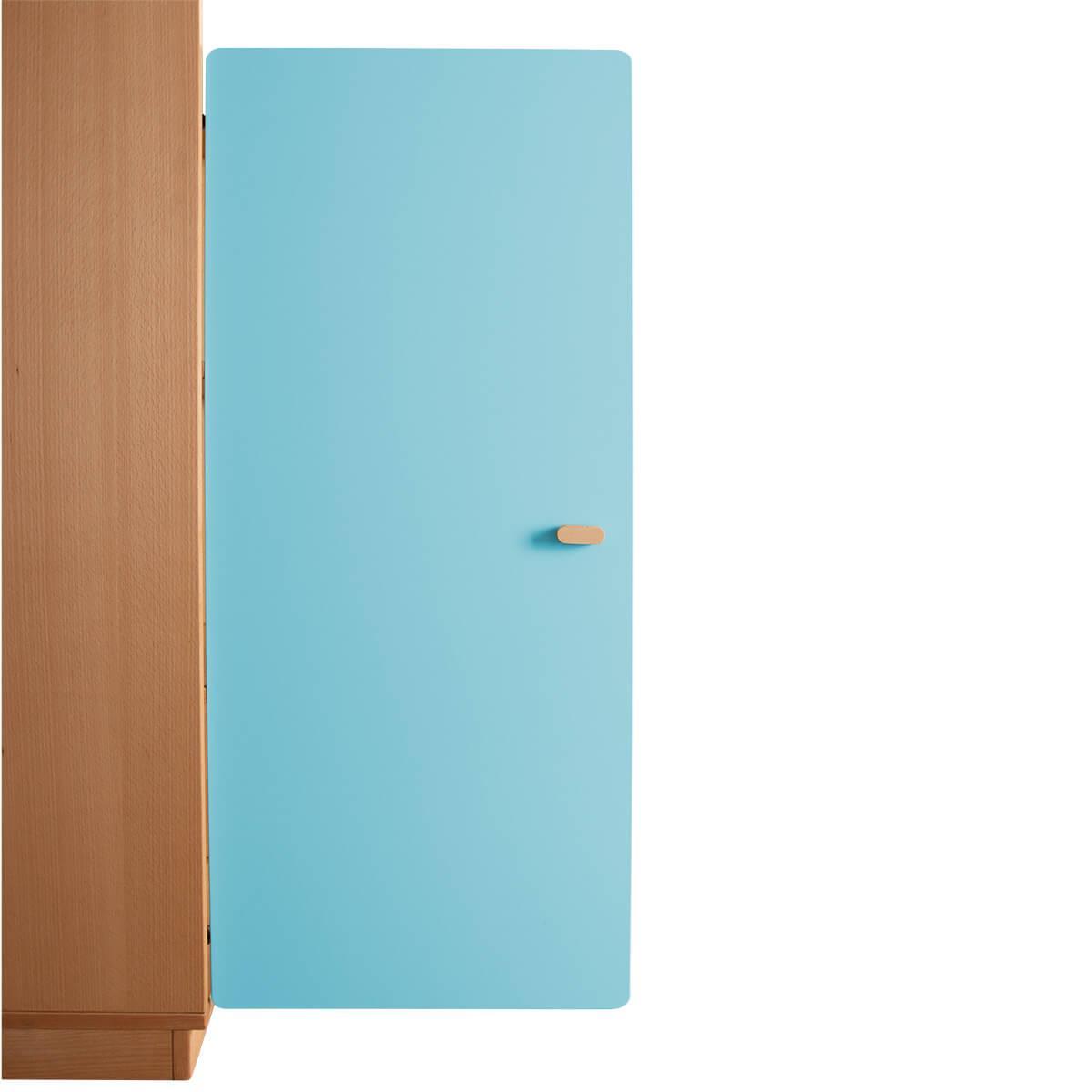 Schranktür 3/5 106cm-Griff DESTYLE de Breuyn MDF kristallblau-lackiert
