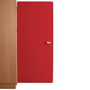 Schranktür 3/5 106cm-Griff DESTYLE de Breuyn MDF rot-lackiert