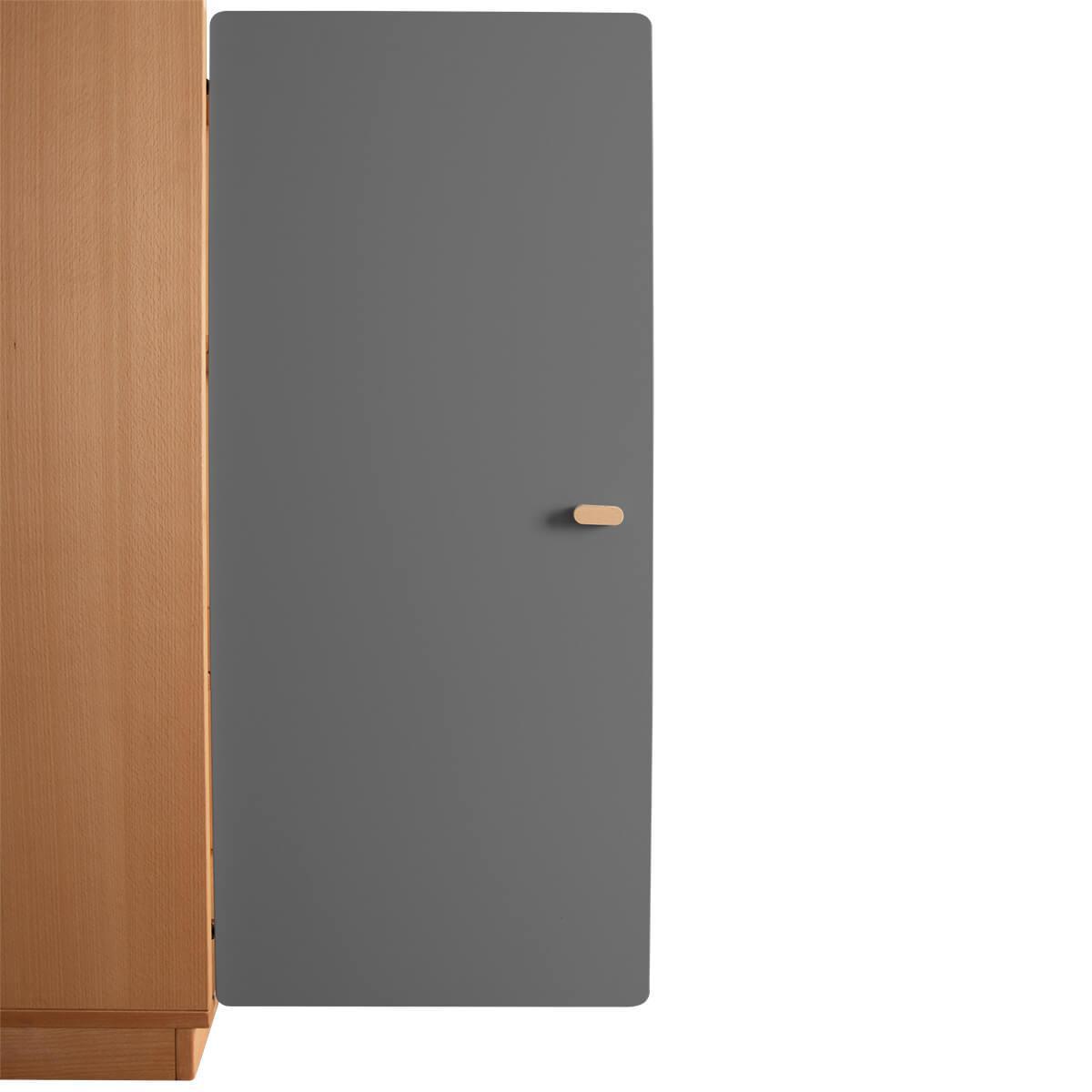 Schranktür 3/5 106cm-Griff DESTYLE Debreuyn  MDF anthrazit-lackiert