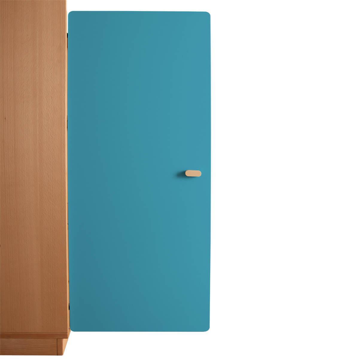 Schranktür 3/5 106cm-Griff DESTYLE Debreuyn  MDF blau-lackiert