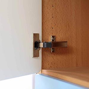 Schranktür 3/5 106cm-Griff DESTYLE Debreuyn  MDF brombeer-lackiert