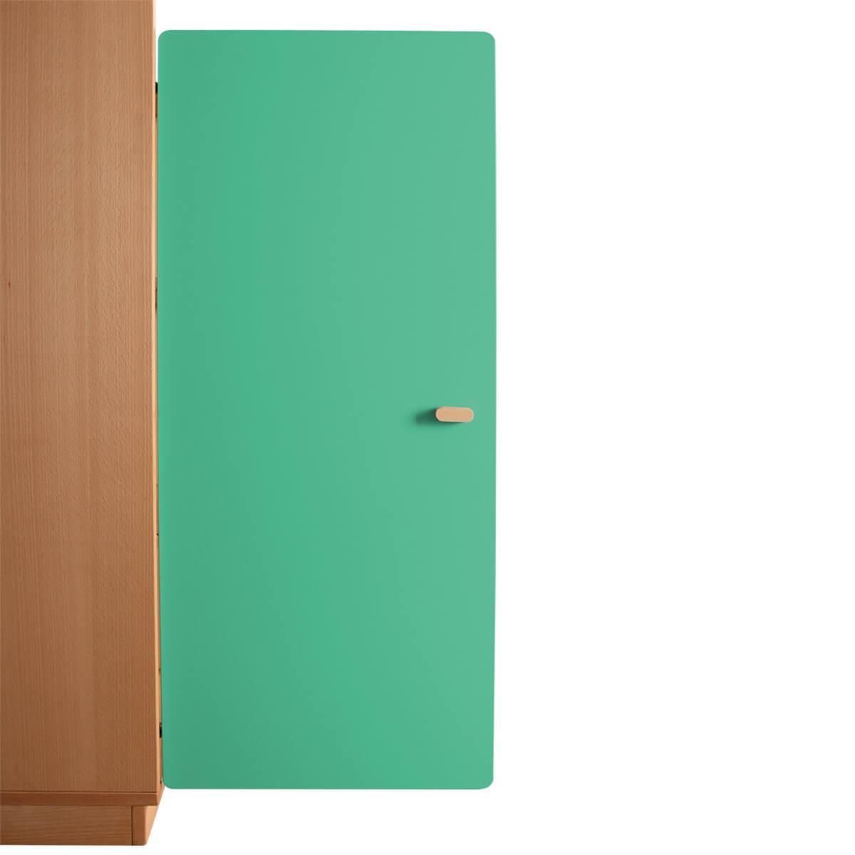 Schranktür 3/5 106cm-Griff DESTYLE Debreuyn  MDF grün-lackiert