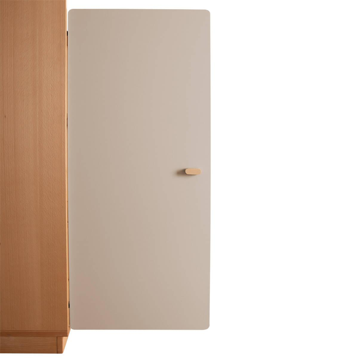 Schranktür 3/5 106cm-Griff DESTYLE Debreuyn  MDF hellgrau-lackiert