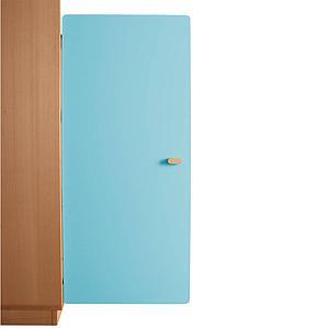 Schranktür 3/5 106cm-Griff DESTYLE Debreuyn  MDF kristallblau-lackiert
