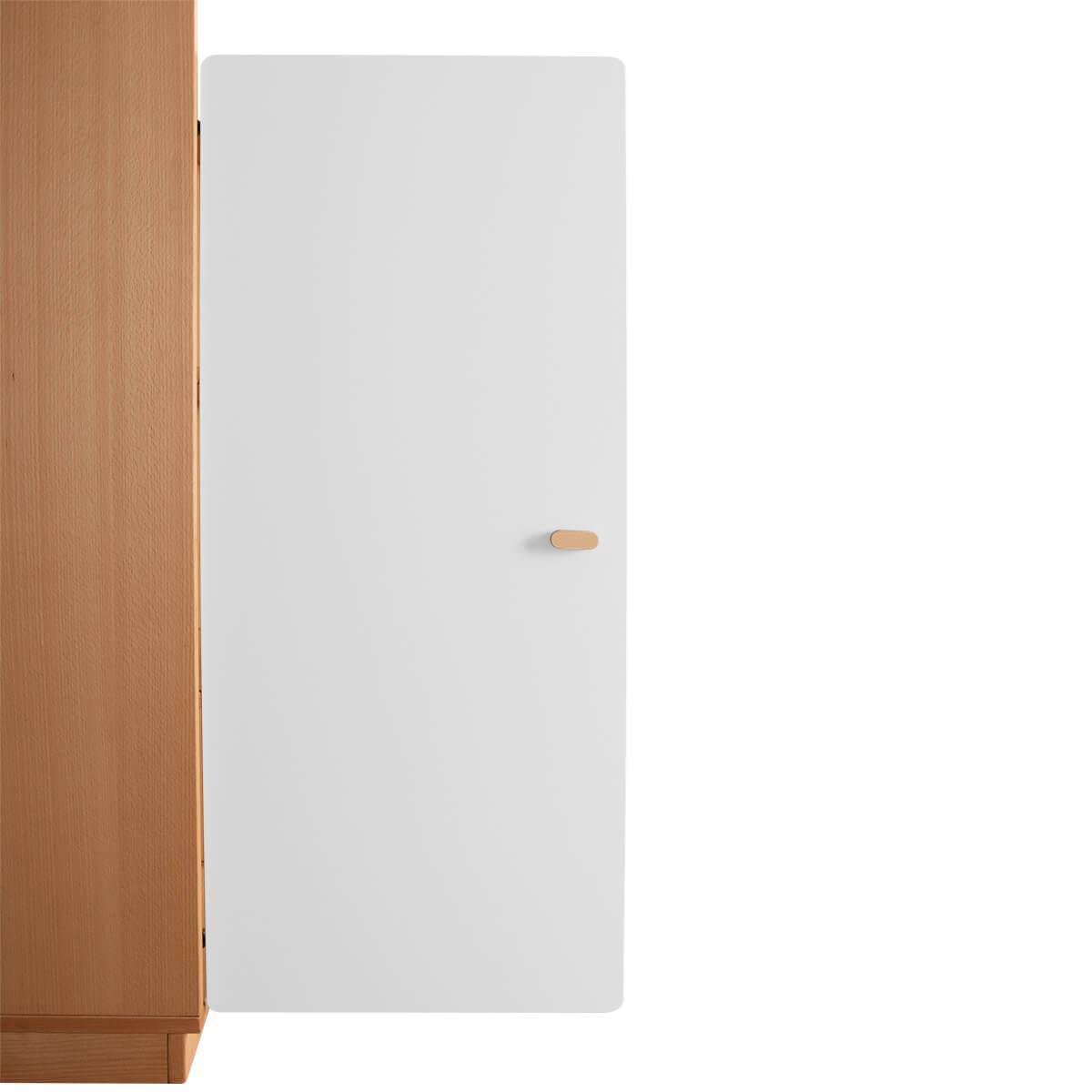 Schranktür 3/5  106cm-Griff DESTYLE Debreuyn  MDF weiß-lackiert