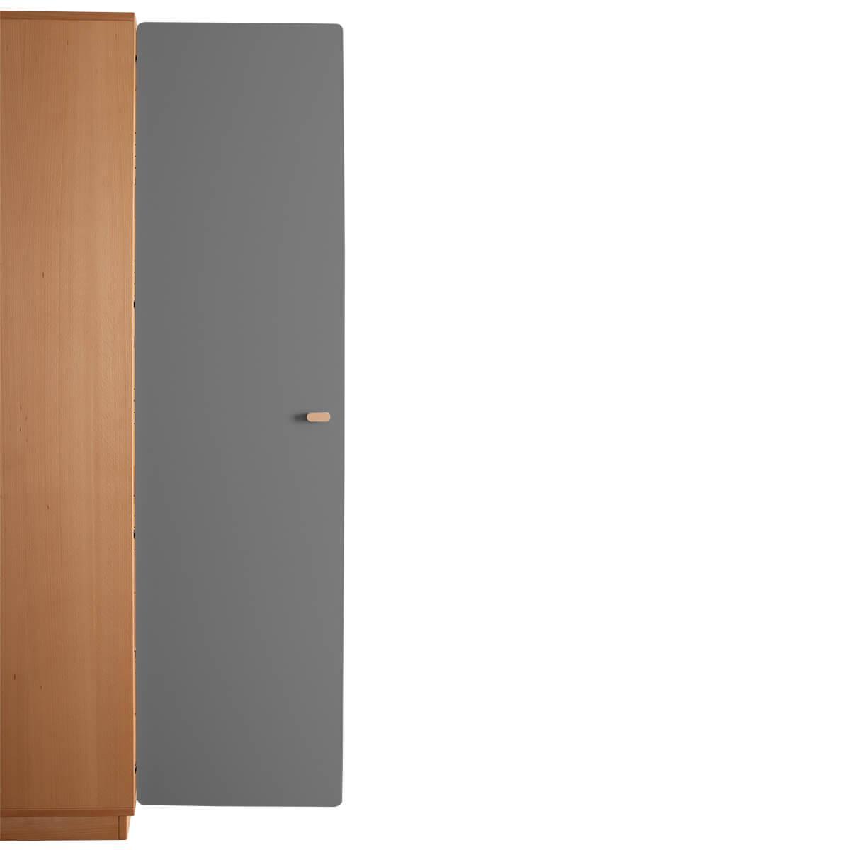 Schranktür 5/5 176cm-Griff DESTYLE de Breuyn MDF anthrazit-lackiert