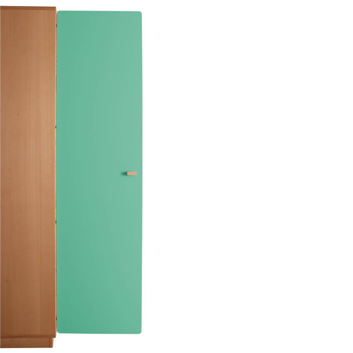 Schranktür 5/5 176cm-Griff DESTYLE de Breuyn MDF grün-lackiert
