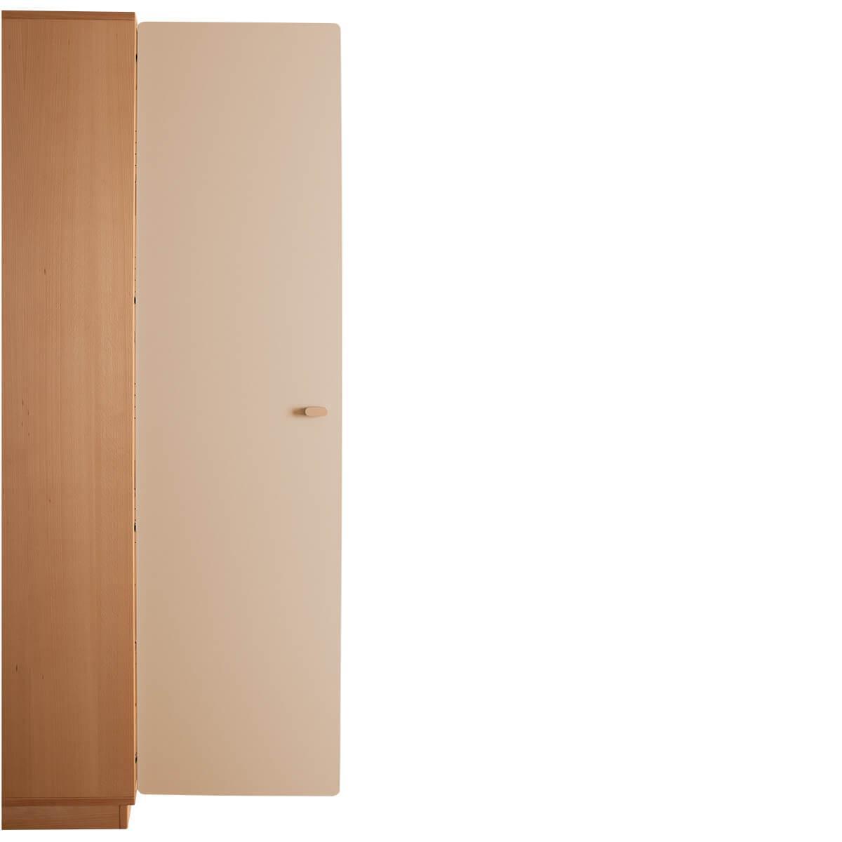 Schranktür 5/5 176cm-Griff DESTYLE de Breuyn MDF hellgrau-lackiert