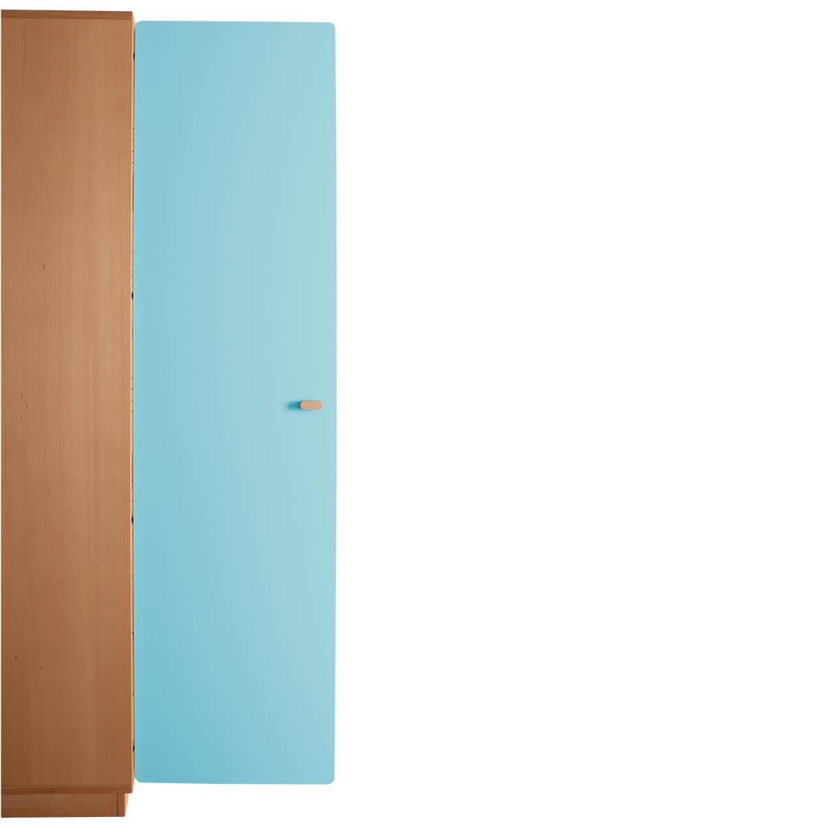 Schranktür 5/5 176cm-Griff DESTYLE de Breuyn MDF kristallblau-lackiert