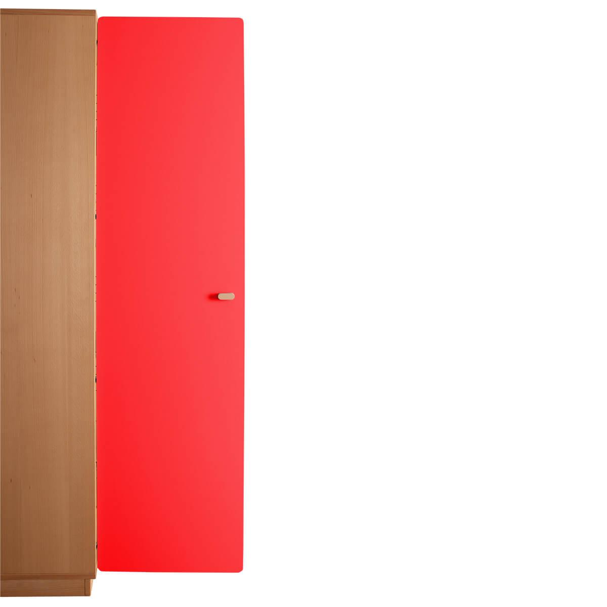 Schranktür 5/5 176cm-Griff DESTYLE de Breuyn MDF rot-lackiert