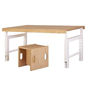 Schreibtisch ZIGGY de Breuyn weiß-Eiche