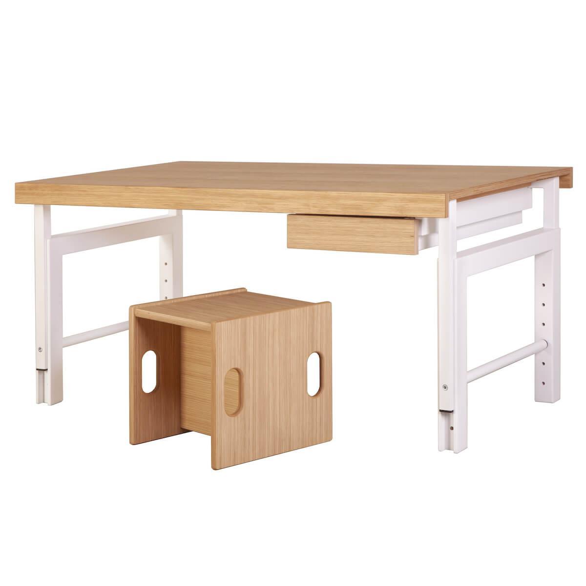 Schreibtisch Ziggy KASVA Debreuyn weiß-Eiche