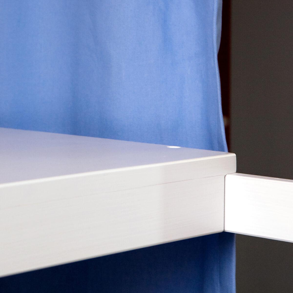 Schreibtischplatte Hochbett-Bettzusatz DESTYLE de Breuyn Buchenfurnierte Spanplatte weiß gebeizt -lackiert