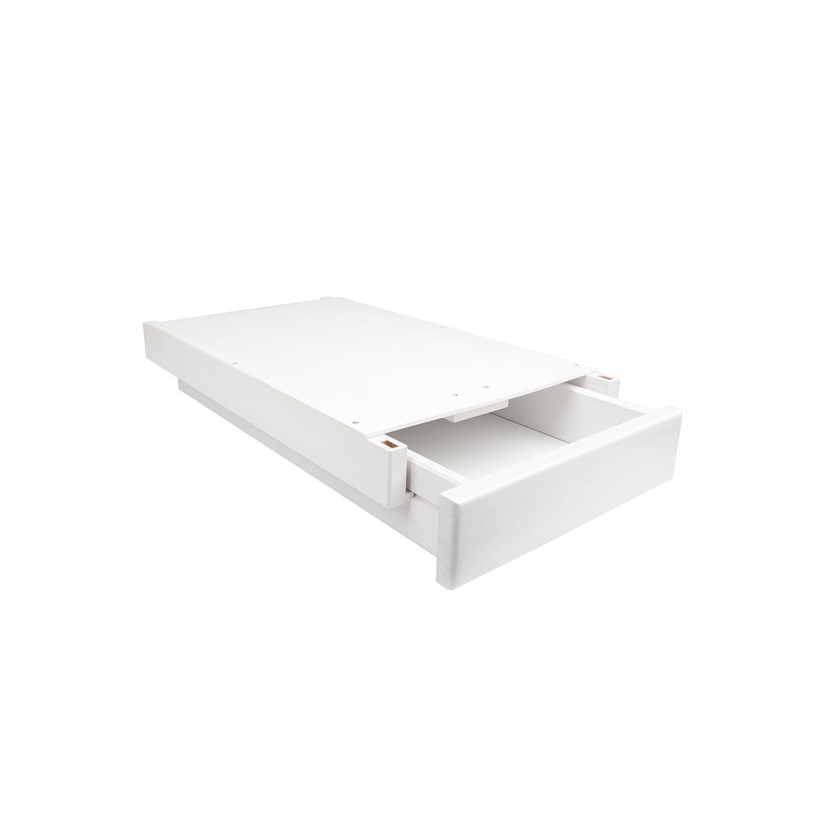 Schreibtischschublade auf Holzleisten ZIGGY de Breuyn Buche massiv weiß-gebeizt lackiert