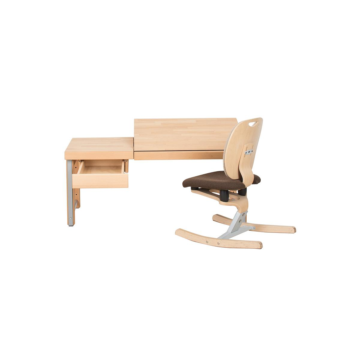 Schreibtischschublade auf Holzleisten ZIGGY DETAIL Debreuyn Buche massiv natur geölt