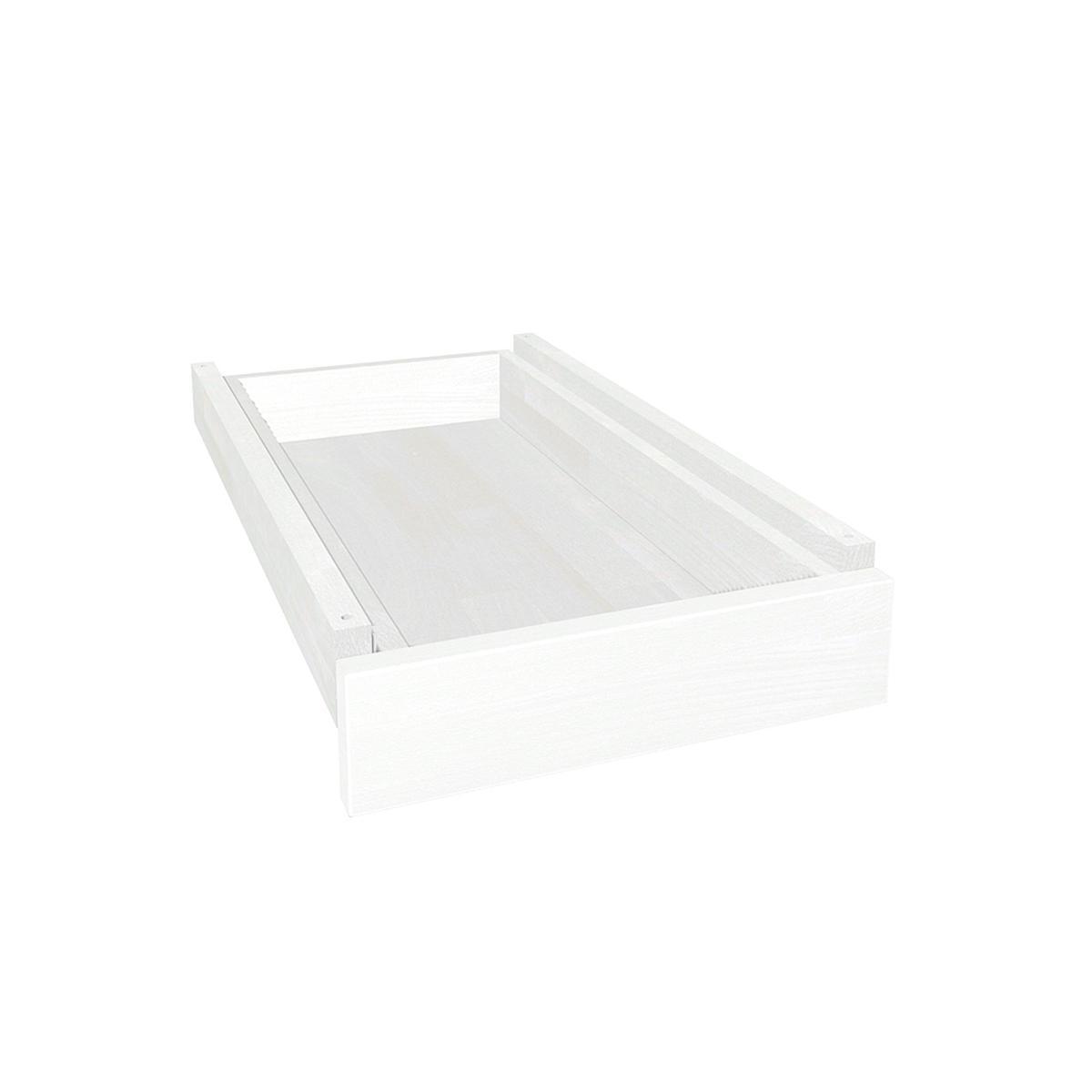 Schreibtischschublade auf Holzleisten ZIGGY DETAIL Debreuyn Buche massiv weiß-gebeizt lackiert