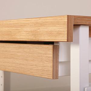 Schreibtischschublade ZIGGY de Breuyn weiß-Buche Front Eiche