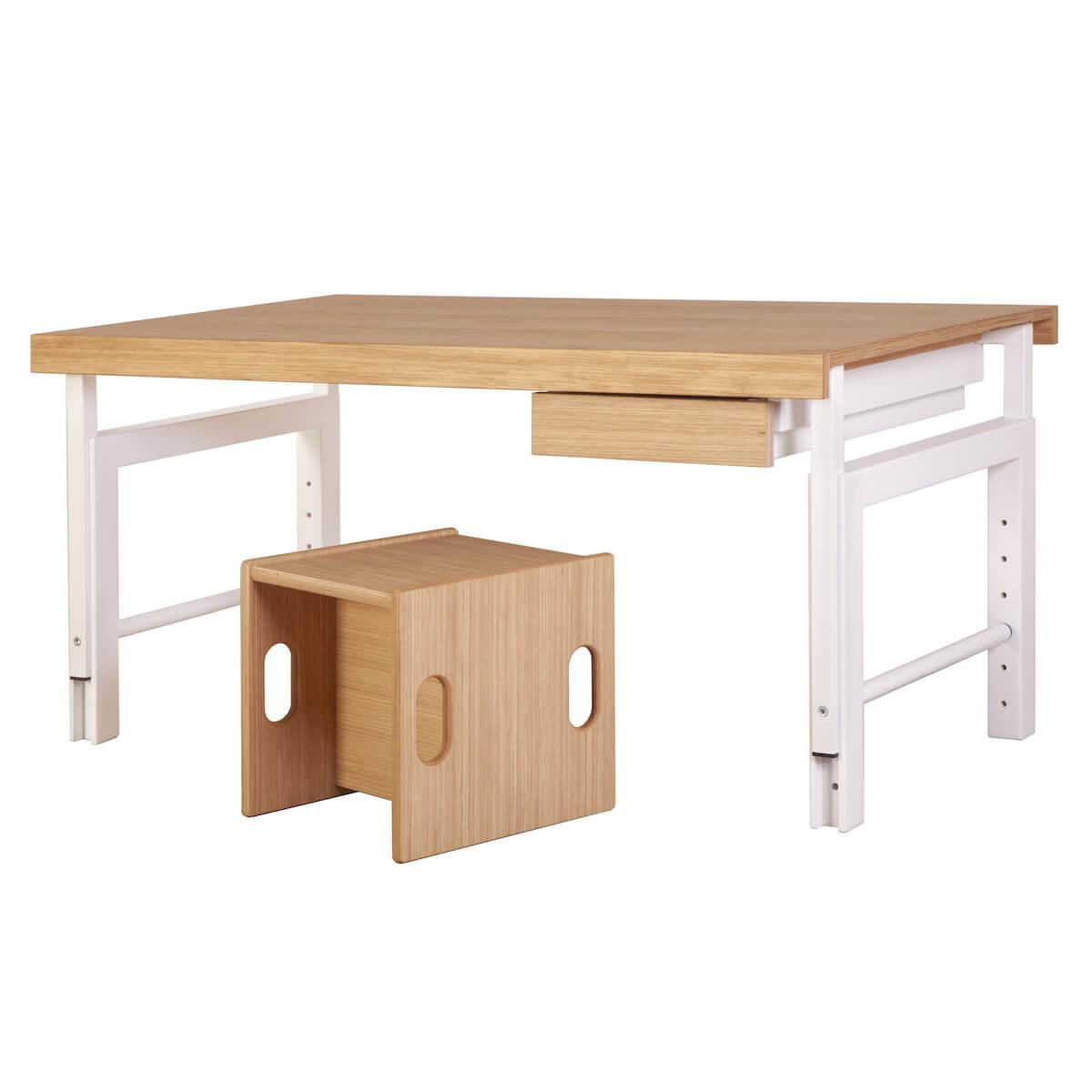 Schreibtischschublade ZIGGY DETAIL Debreuyn weiß-Buche Front Eiche