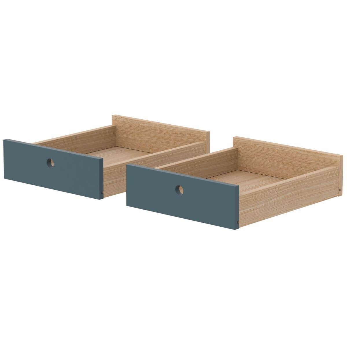 Schreibtischschubladen 2 Stk. POPSICLE Flexa Eiche-blueberry