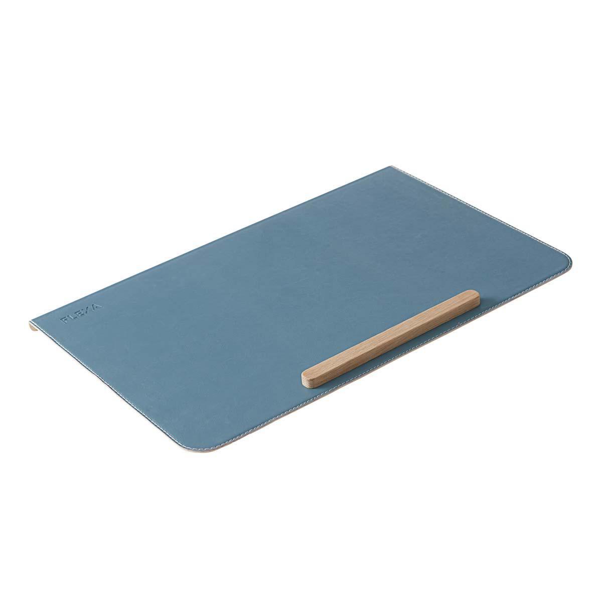 Schreibtischunterlage Kunstleder STUDY Flexa blau
