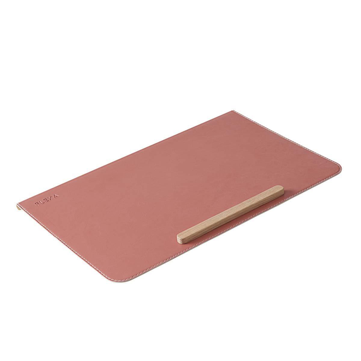 Schreibtischunterlage Kunstleder STUDY Flexa rosa