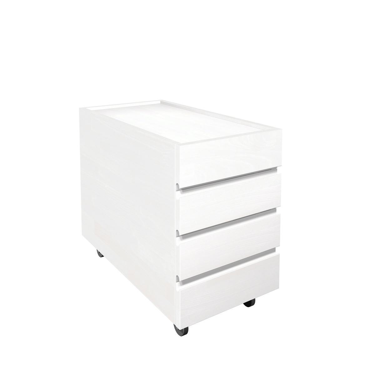 Schubkastencontainer ZIGGY de Breuyn Buche massiv weiß-gebeizt lackiert