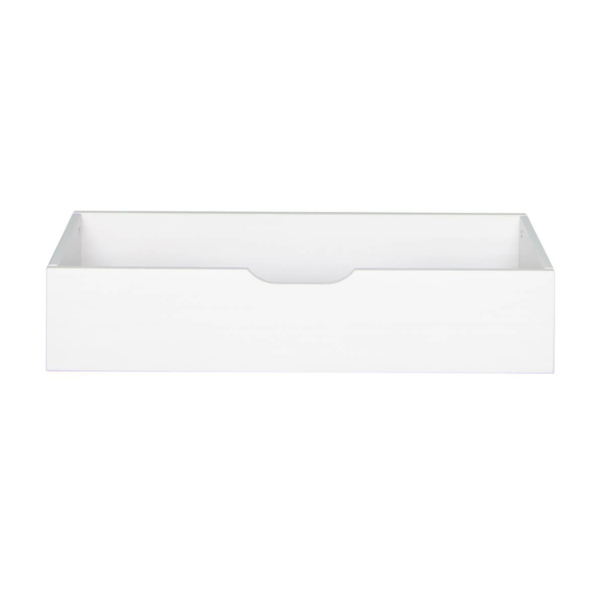 Schublade für Schubladenpodest 4 Rollen DESTYLE de Breuyn Buchenfurnierte Spanplatte weiß gebeizt-lackiert