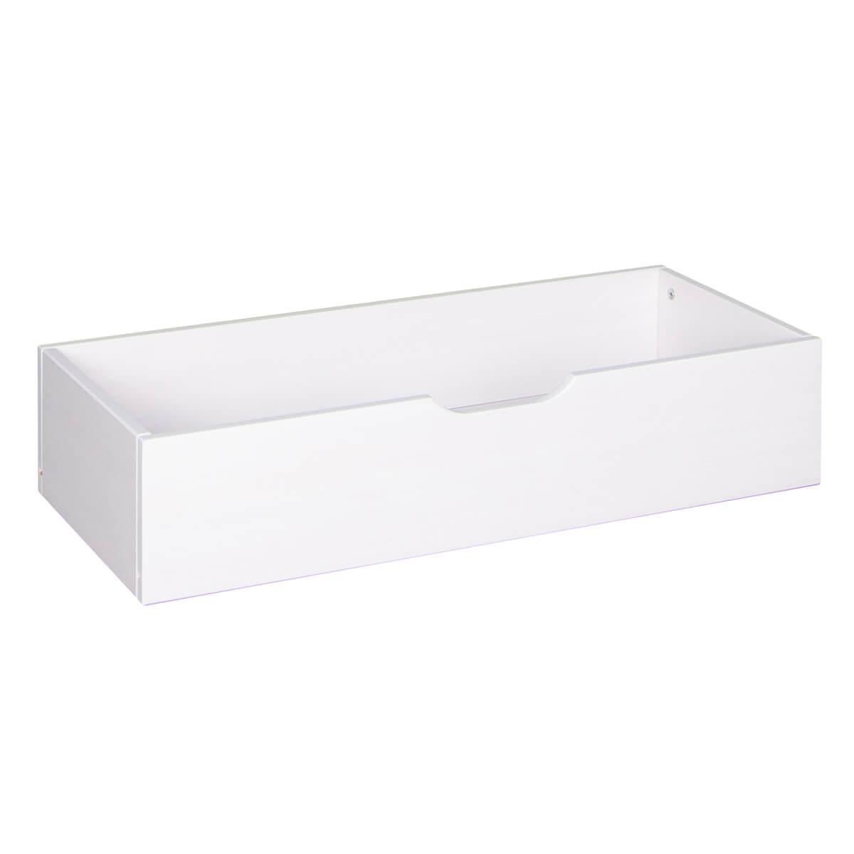 Schublade für Schubladenpodest 4 Rollen DESTYLE Debreuyn Buchenfurnierte Spanplatte weiß gebeizt-lackiert