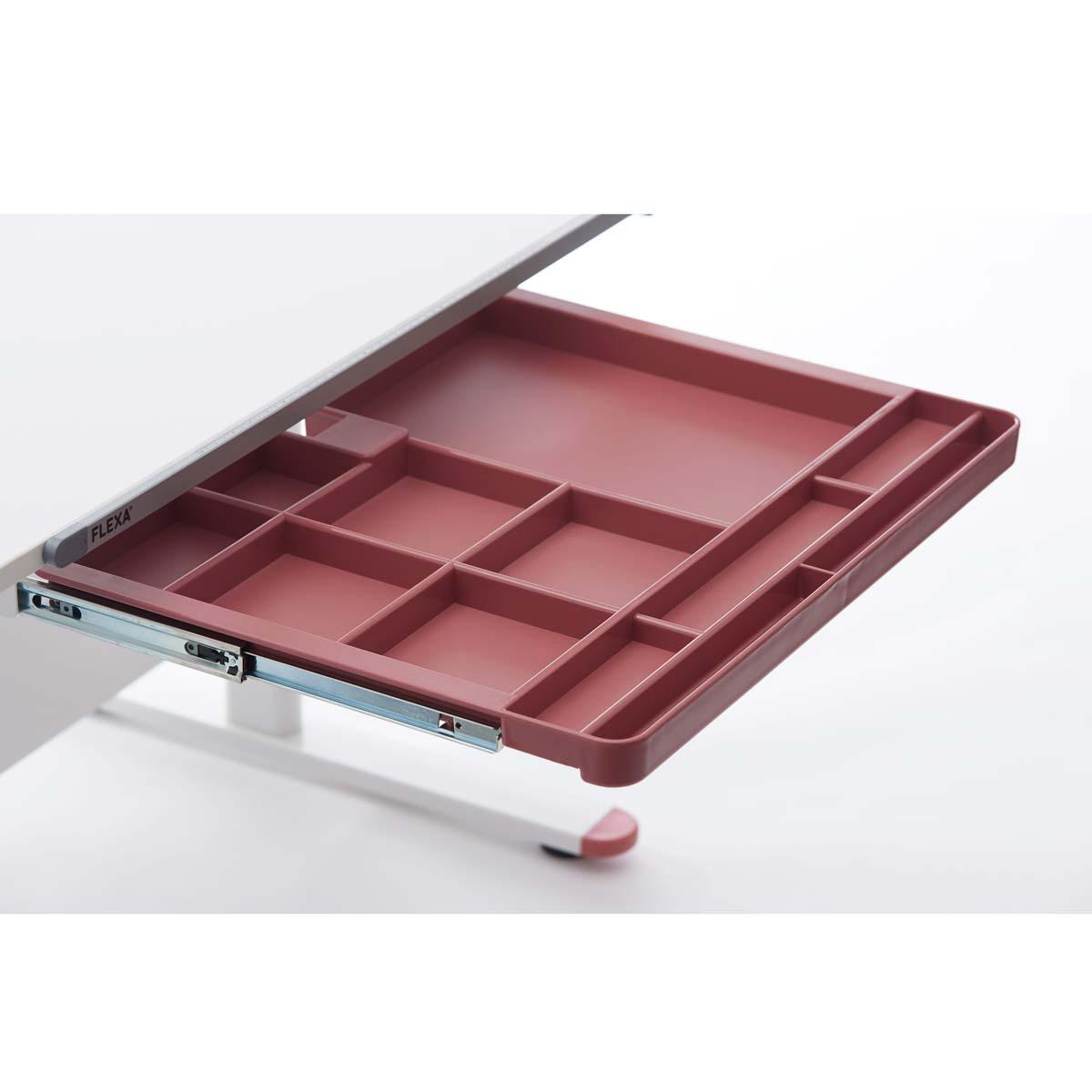 Schublade mit Fächern EVO Flexa rosa