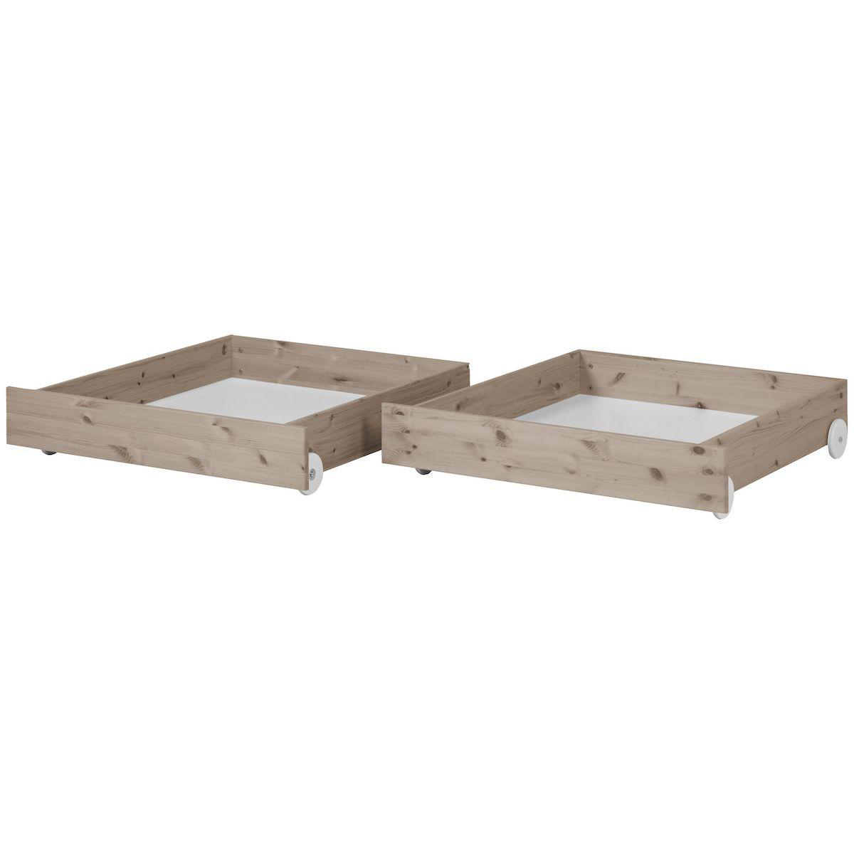 Schubladen 2 Stk. für Einzelbett 90x200cm CLASSIC by Flexa terra