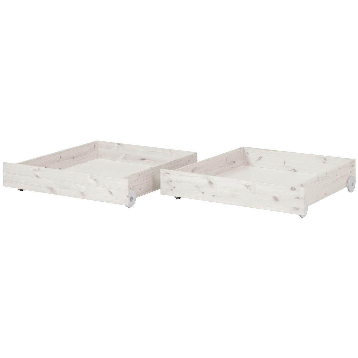 Schubladen 2 Stk. für Einzelbett 90x200cm CLASSIC by Flexa whitewash