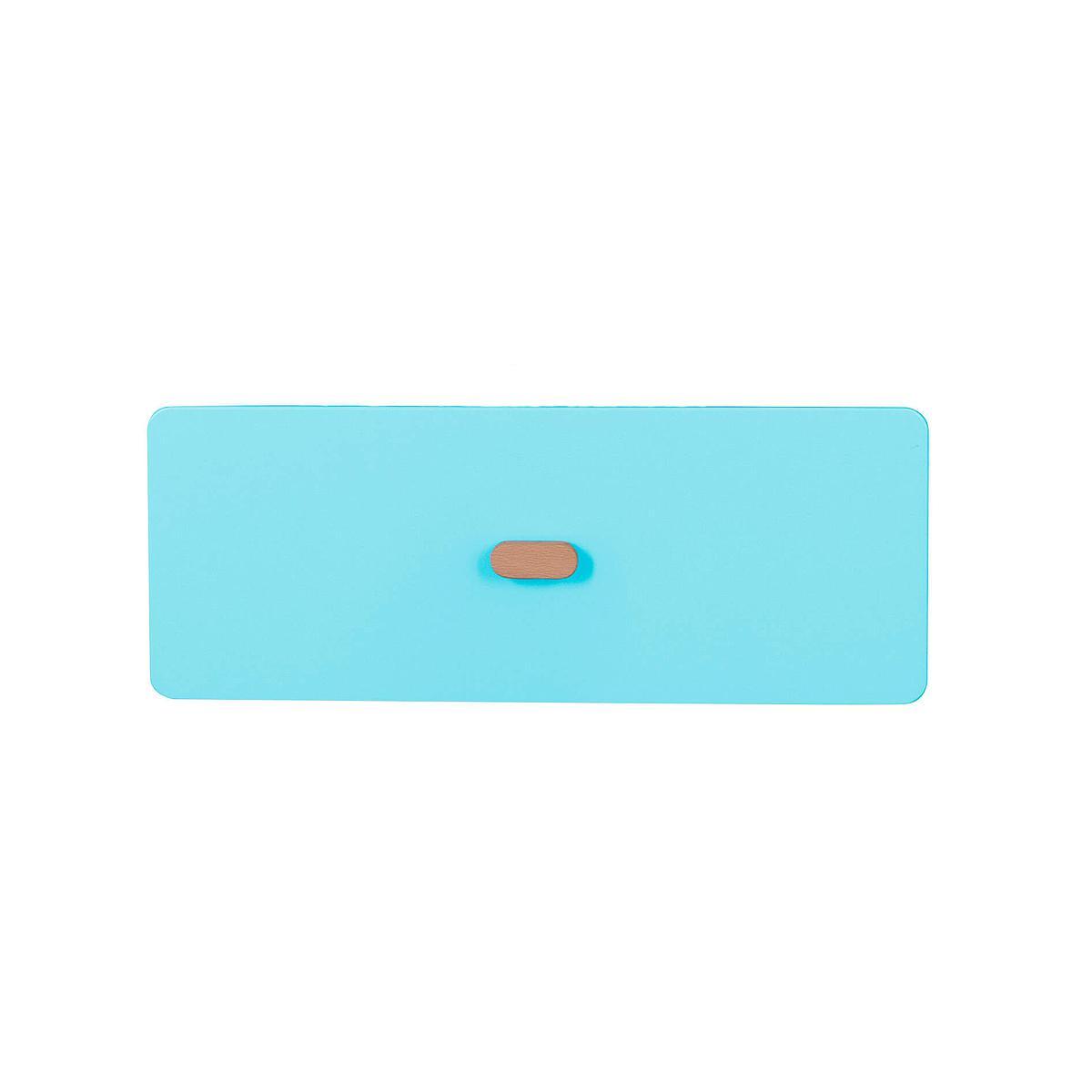 Schubladenblende einzeln 17cm-Griff DESTYLE de Breuyn MDF kristallblau-lackiert