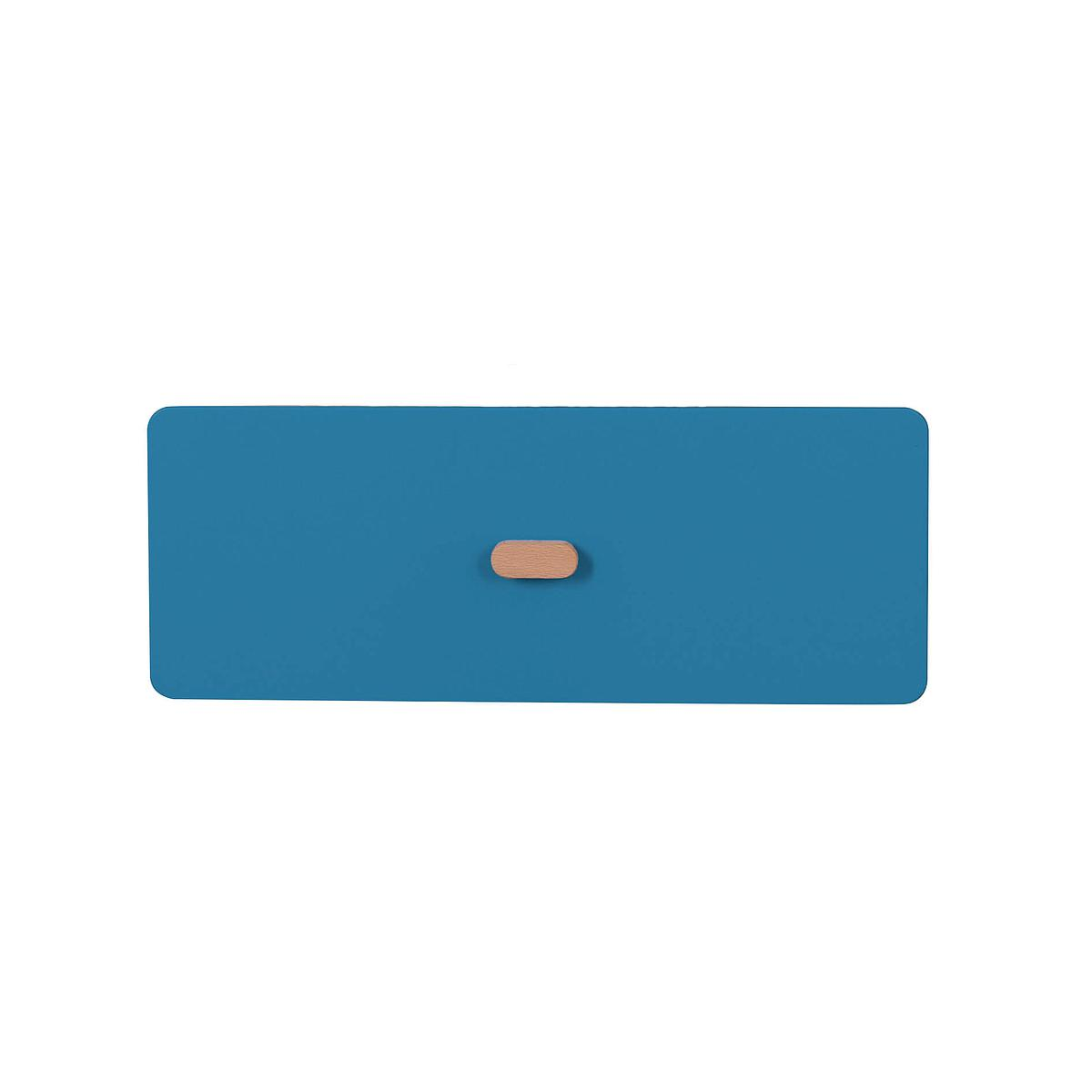 Schubladenblende einzeln 17cm-Griff DESTYLE Debreuyn  MDF dunkelblau-lackiert