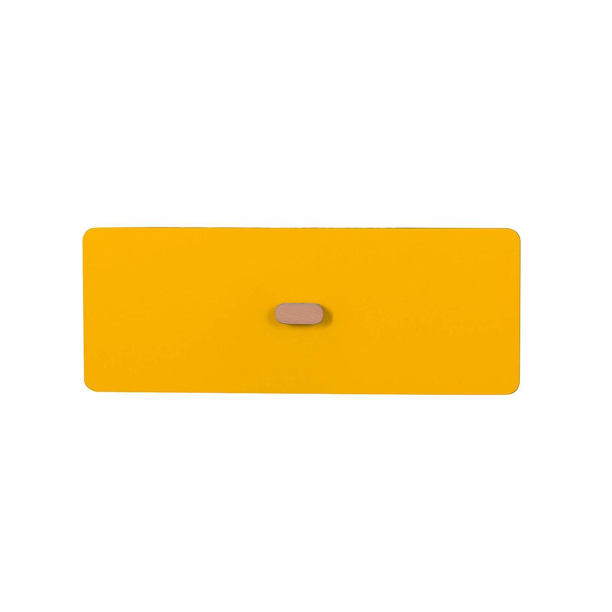Schubladenblende einzeln 17cm-Griff DESTYLE Debreuyn  MDF gelb-lackiert