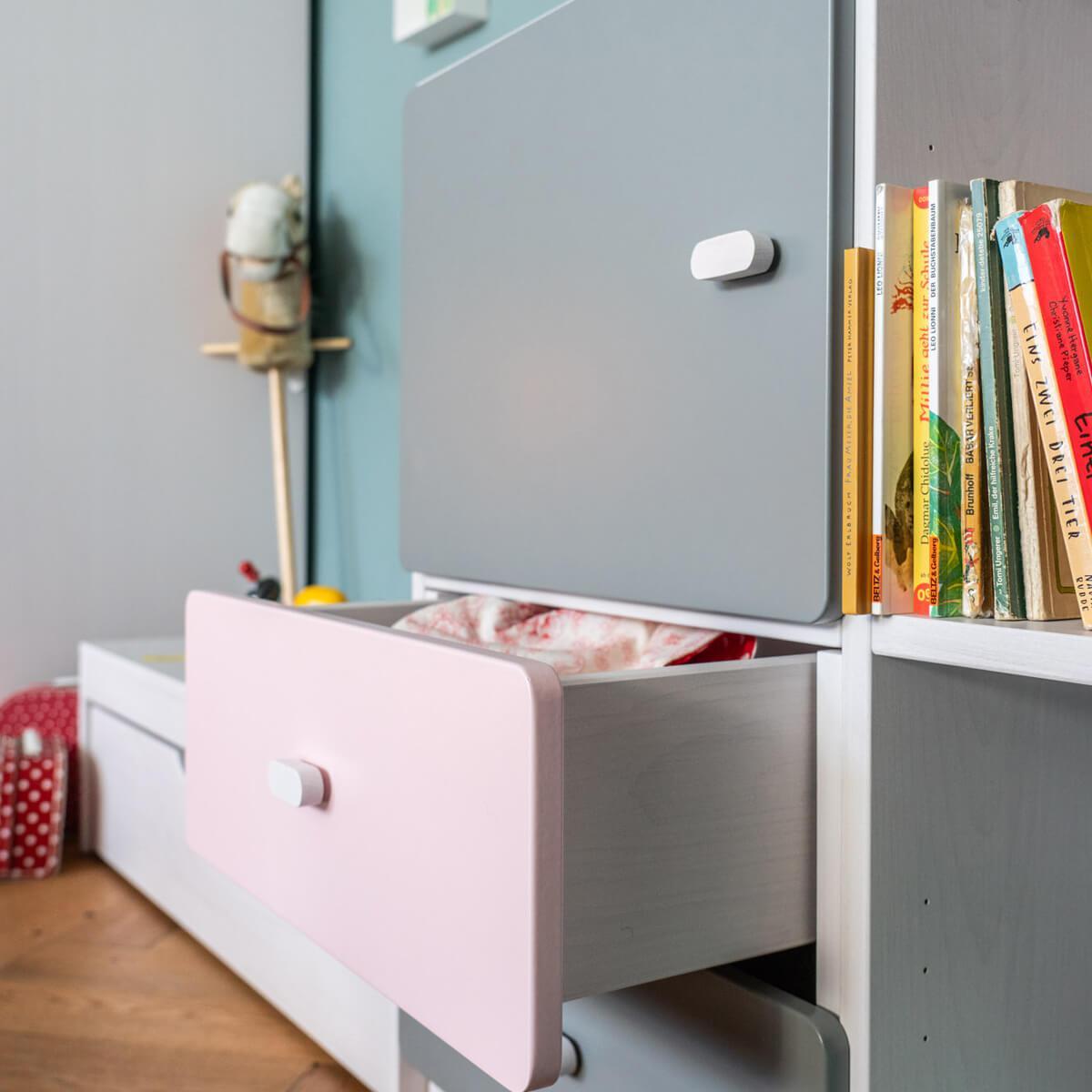 Schubladenblende einzeln 17cm-Griff DESTYLE Debreuyn  MDF rosa-lackiert