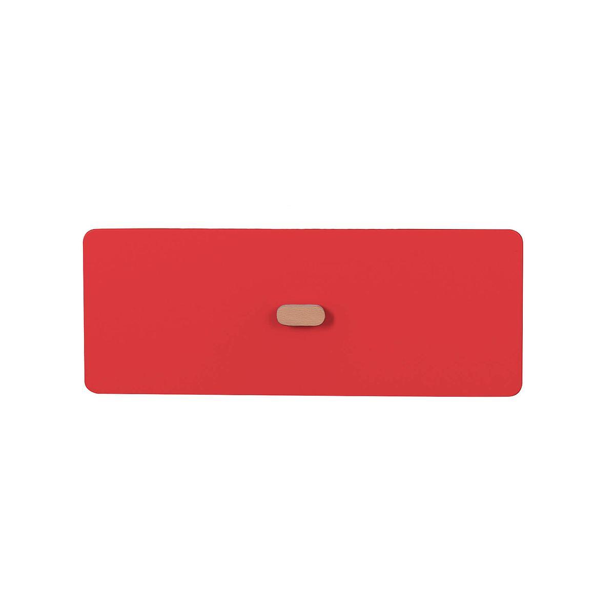Schubladenblende einzeln 17cm-Griff DESTYLE Debreuyn  MDF rot-lackiert