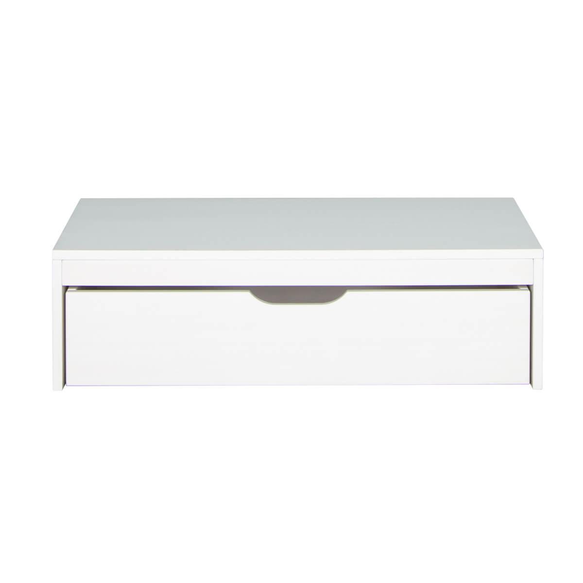 Schubladenpodest 27x93x40cm-Rollkasten DESTYLE de Breuyn Buchenfurnierte Spanplatte weiß gebeizt-lackiert