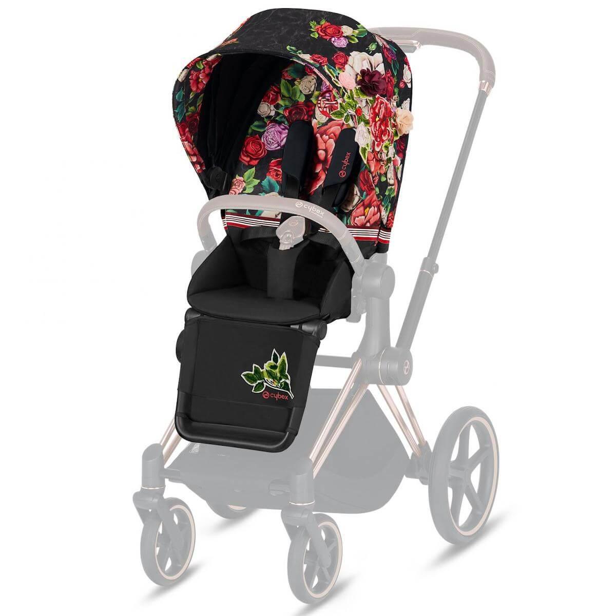Seat Pack PRIAM Cybex Spring Blossom Dark-black
