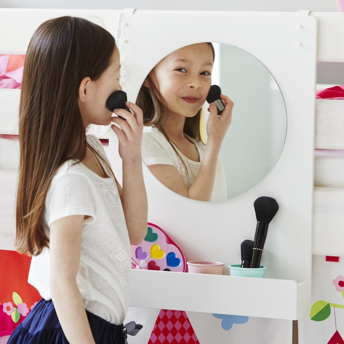 Spiegel weiß für Classic Betten oder Wandbefestigung CLICKON by Flexa