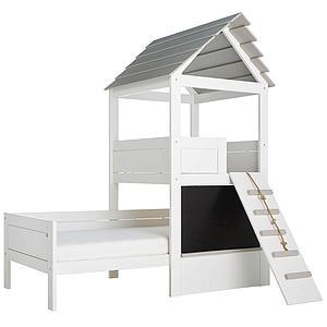 Spielbett 90x200cm PLAY TOWER Lifetime weiß-grey wash