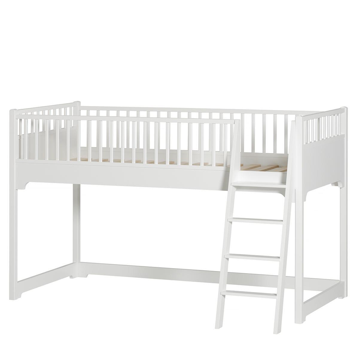 Spielbett 90x200cm SEASIDE Oliver Furniture weiß