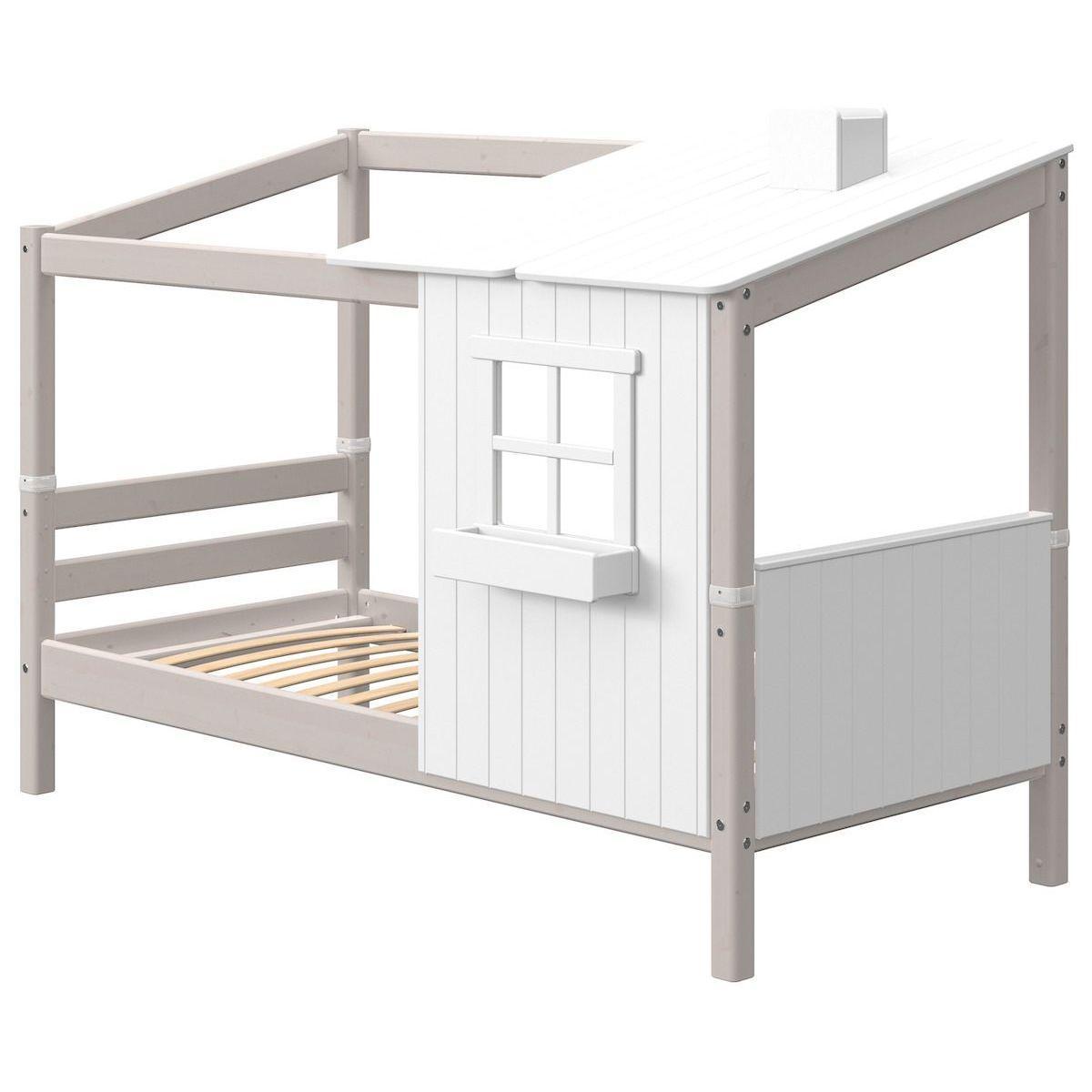 Spielbett Baumhaus 90x190cm 1-2 PLAY HOUSE CLASSIC Flexa weiß-grey washed